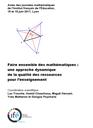Actes des journées mathématiques de l'IFÉ